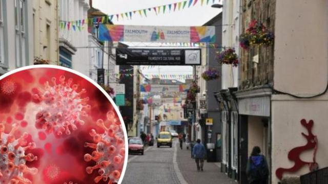 A 'small number' of coronavirus cases have been confirmed in Falmouth say Cornwall Council.